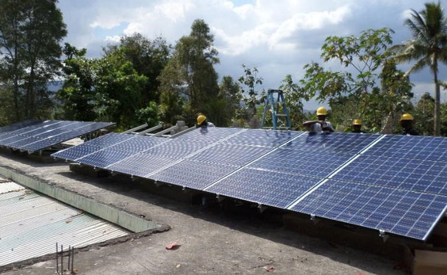 9kW PV array installed in St. Michel de l'Attalaye, Haiti