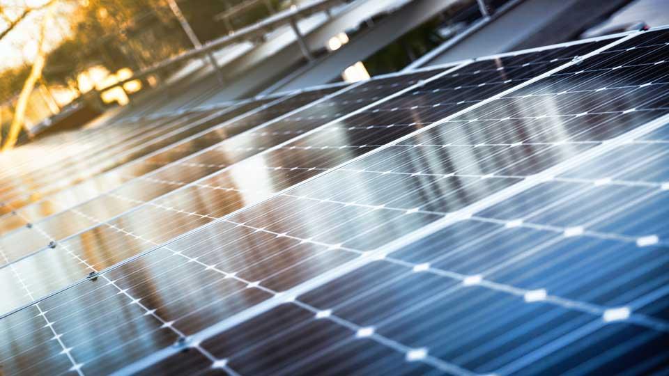 Solar photovoltaic array at Arch|Nexus SAC helps the building achieve Net-Positive Energy