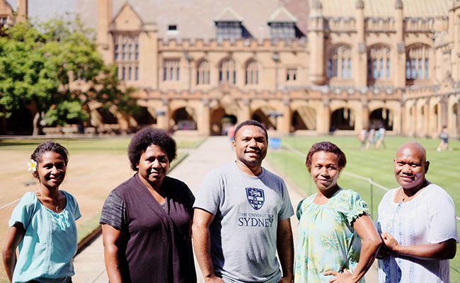 Australia Awards scholarship recipients on award at University of Sydney.