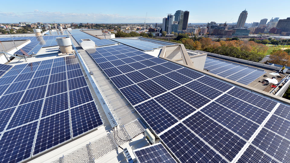 The solar rooftop installation at StarTrack House is one of the largest of its type in Australia.