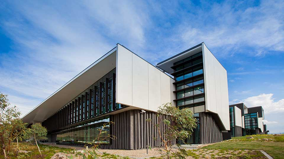 External view of the Australian Federal Police Forensics Laboratory.