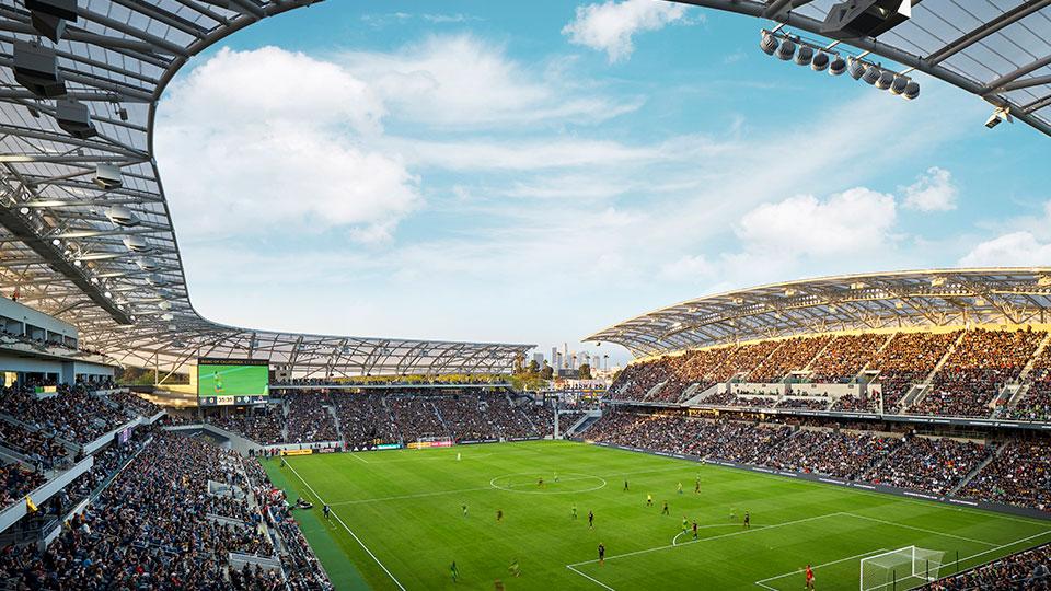 Banc of California Stadium in Los Angeles, California.