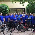 Members of the 2017 International Bike to Work Week Challenge winning team from Perth, Western Australia