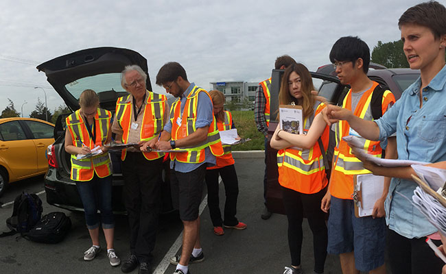 Clad in high-vis vests, Tetra Tech's community engagement team was oriented before they hit the pavement.