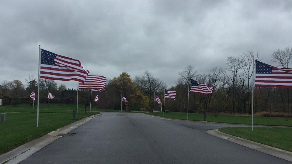 The Avenue of Flags was completed and reinforces national pride.