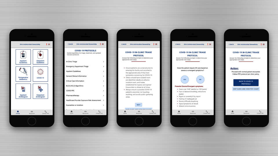 Antimicrobial Stewardship, an app developed by Tetra Tech, is used  to treat patients for infectious diseases