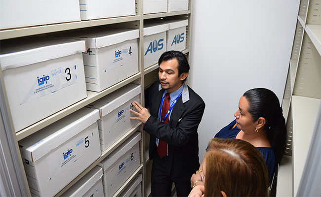 The Chief of the IAIP Archives Unit, provides an explanation of procedures for maintaining public information documentat
