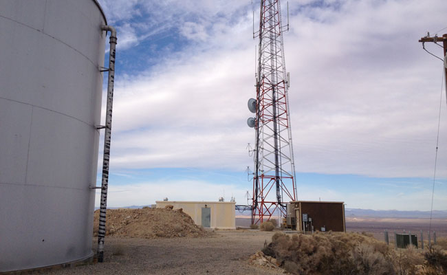 Edwards Air Force Base cell tower site located on the Air Force Research Laboratory.