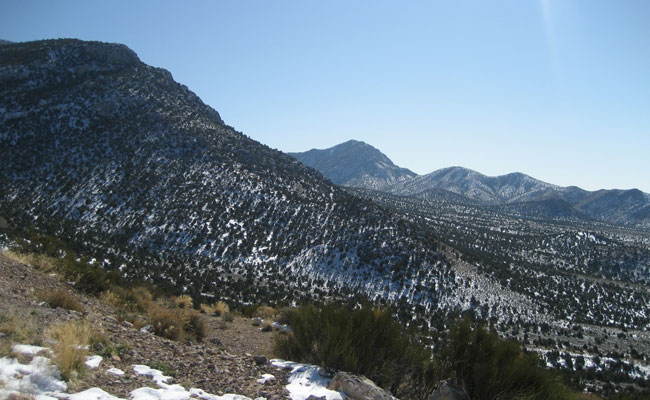 Egan Range mountains viewed from the Egan Radio Relay Annex site