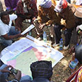 Participatory mapping and demarcation process facilitated by Tetra Tech's team.