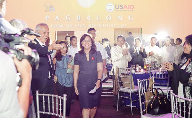 Philippine Vice President Leni Robredo attended the ECOFISH celebratory event.