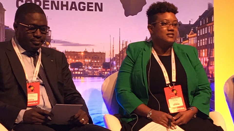 Tetra Tech's Jeannelle Blanchard speaks at the 2017 Africa Energy Forum.