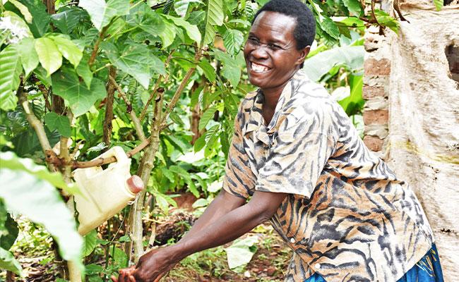 Promoting good hand hygiene in rural Uganda.