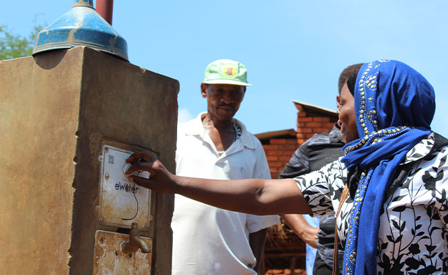 Harnessing the digital cloud for water access
