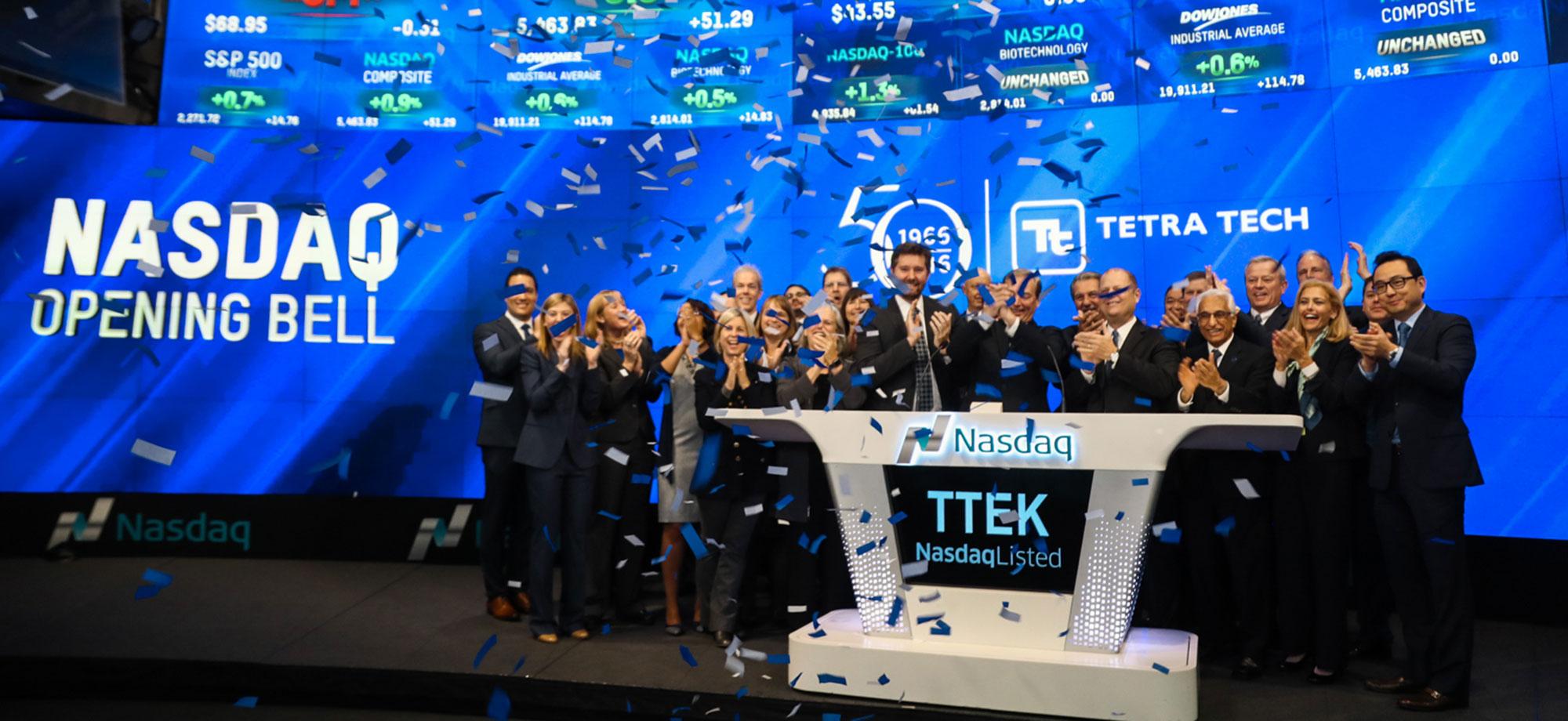 Tetra Tech rang the NASDAQ opening bell on December 14. Read more.