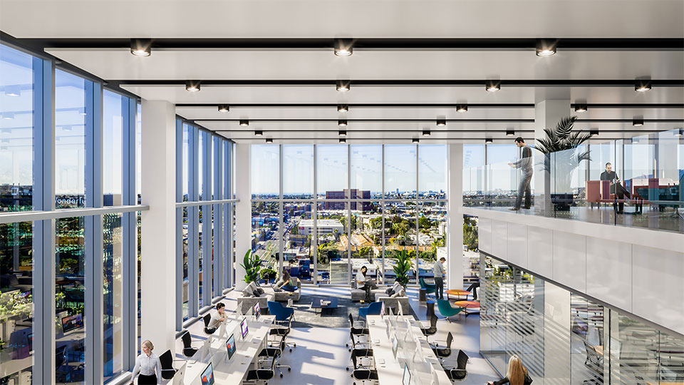 Clean air and abundant natural lighting in West LA's Lumen Building