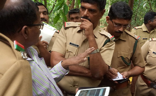 Tetra Tech trains on Van, a mobile application (app) for forest inventory data collection.