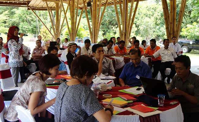 Group discussion at the Payment for Environmental Services Workshop in Pulang Pisau, Central Kalimantan Province