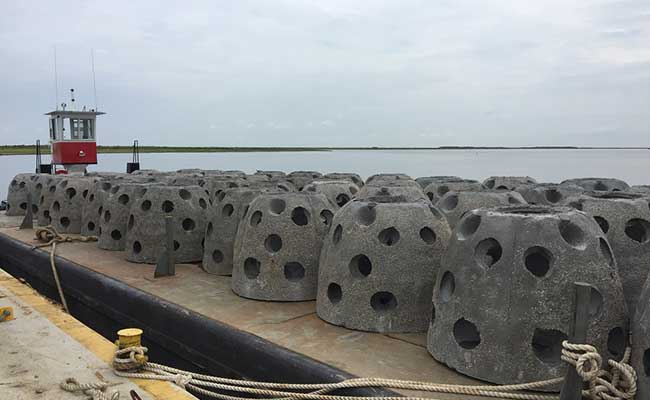 The Tetra Tech team evaluated reef breakwater products to determine potential to meet Louisiana coastal protection goals
