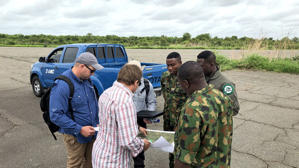 Tetra Tech conducted field studies at Kainji Air Base
