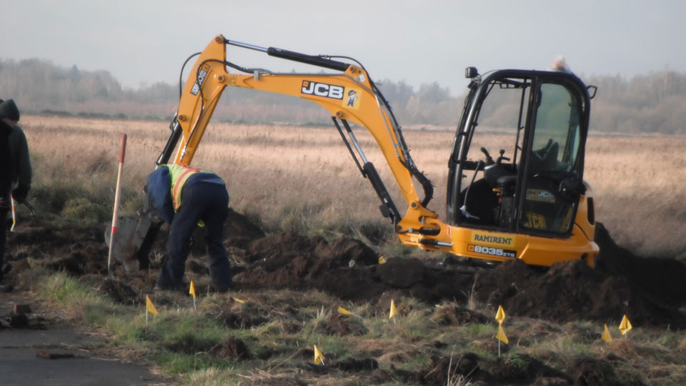 Mechanical removal of digital geophysical mapping-identified targets to support military construction in Poland