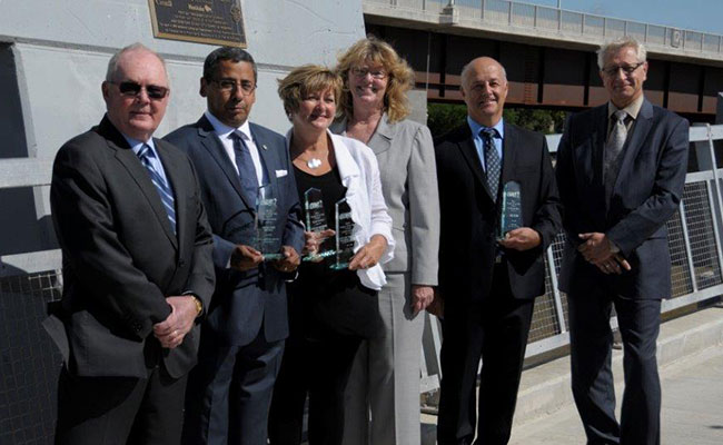 Tetra Tech's Emile Shehata pictured with City of Winnipeg representatives and other award recipients