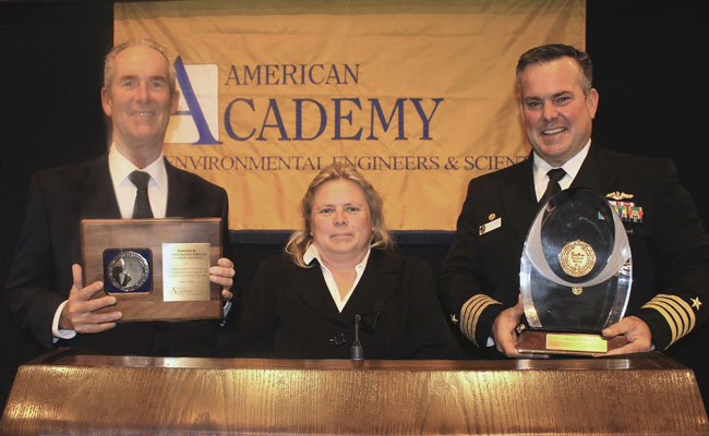 Tetra Tech's Pete Everds (left), NAVFAC Southwest Remedial Project Manager Angie Lind, and Naval Base Point Loma Command