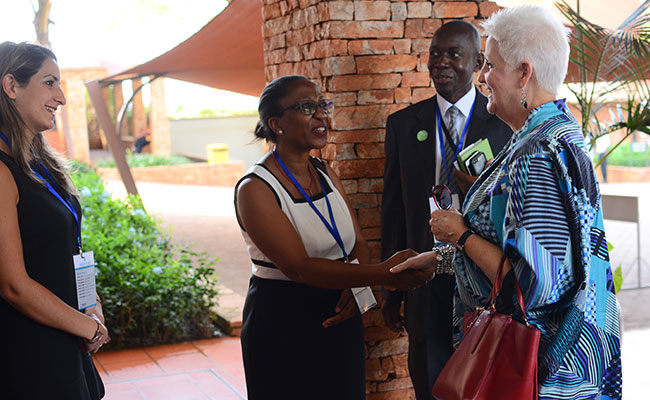 Tetra Tech and USAID greet the U.S. Ambassador to Uganda, Deborah R. Malac