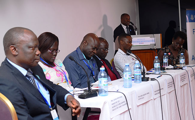 Panelists at the Ag Inputs event discussing their experience working with the activity over the past five years