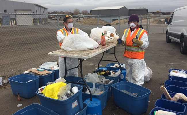 Tetra Tech staff conducted targeted bin digs as part of NRDC research