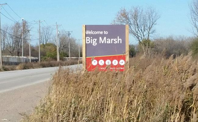Big Marsh Park entry way
