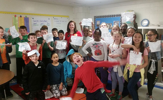 Tetra Tech met with three 5th grade classes to discuss the water cycle, the importance of clean water, and watersheds.