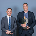 Patrick Fournier accepted the Léonard Award in the Environment category on behalf of Tetra Tech.