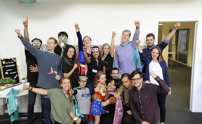 Tetra Tech's Melbourne, Australia, office celebrates Superhero Daughter Day