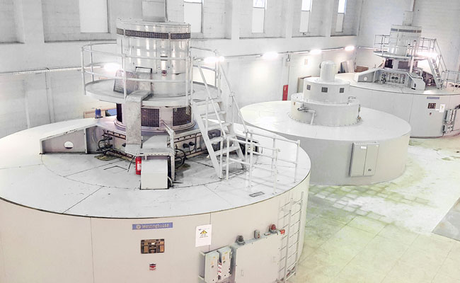 New and existing turbine generators responsible for the production of electricity in the Kajaki Hydropower Plant