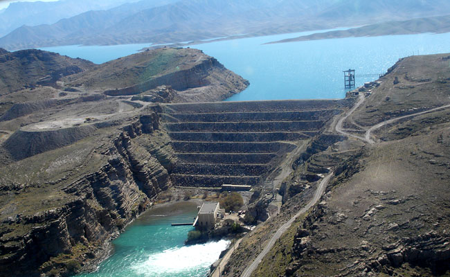 View of Kajaki Dam Hydropower Plant in Helmand province in southern Afghanistan