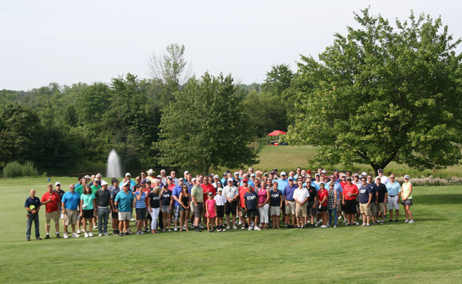 Golf outing picture from 2017's event
