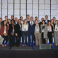 Tetra Tech CEO Dan Batrack celebrates with the 2018 Leadership Academy class.