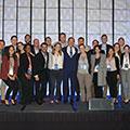 Tetra Tech CEO Dan Batrack celebrates with the 2018 Leadership Academy class.