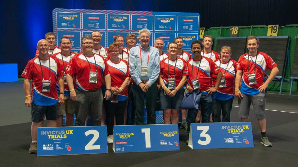 WYG volunteers from across the UK helped competitors during the archery trials and finals