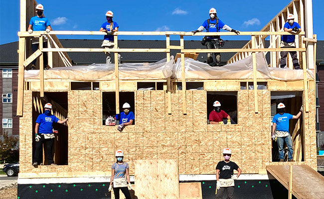 Tetra Tech staff donated their time to build a home for a family in need.