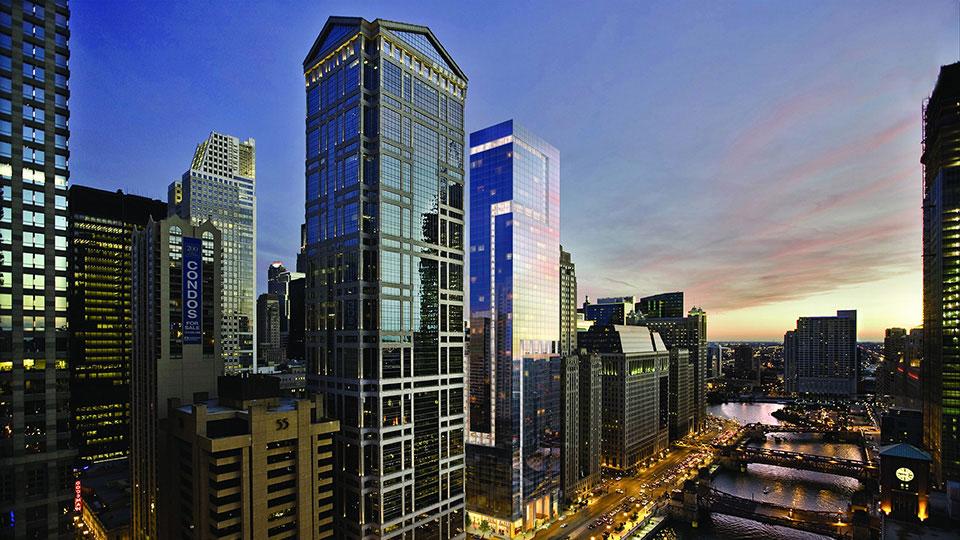 Exterior rendering of OneEleven, Chicago's luxury residential building.
