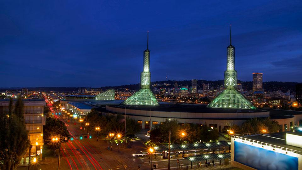 Oregon Convention Center in Portland, Oregon