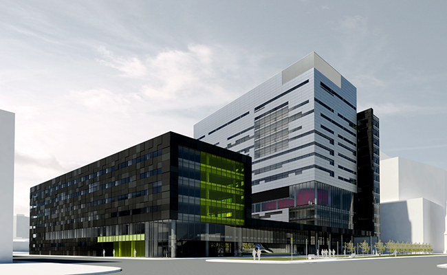 Construction of the Research Center of Montreal University