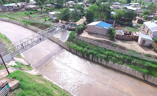Tetra Tech planned drainage infrastructure improvements to mitigate flooding in the Mazyopa community in Lusaka, Zambia.
