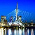 Winnipeg Auto Traffic Pedestrian Bridges