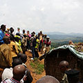 USG delegation at South Kivu mine site