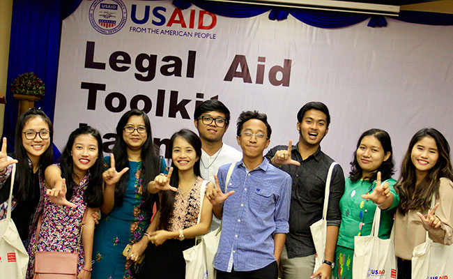 Tetra Tech's Promoting the Rule of Law Project launches a legal aid toolkit for lawyers in Myanmar