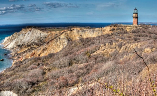 Historic Gay Head Light on Martha's Vineyard in Aquinnah, MA