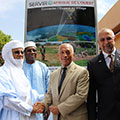 Honorable Brigi Rafini, Prime Minister of Niger; Mr. Kassoum Denon; Major General Charles Bolden; and Mr. Alex Deprez